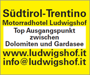 Ludwigshof - Das Motorradhotel in Südtirol